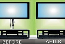 how to hide tv wires without cutting wall