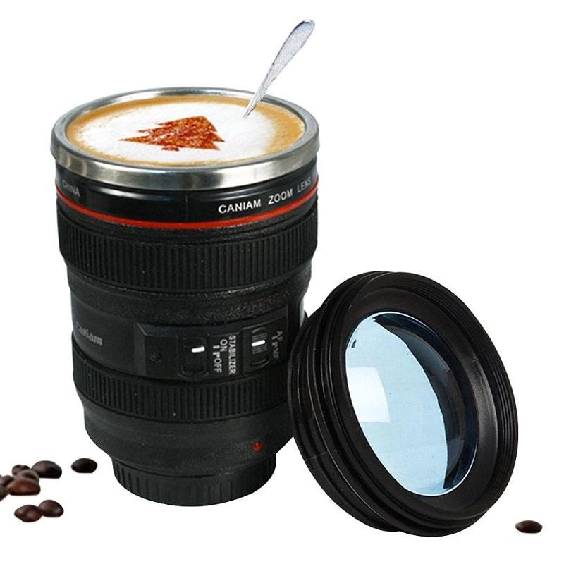 nikon camera lens mug