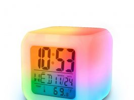 alarm clock light keeps me awake