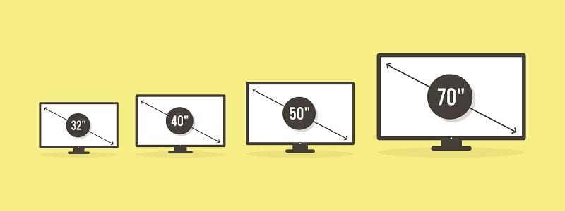 tv screen sizes
