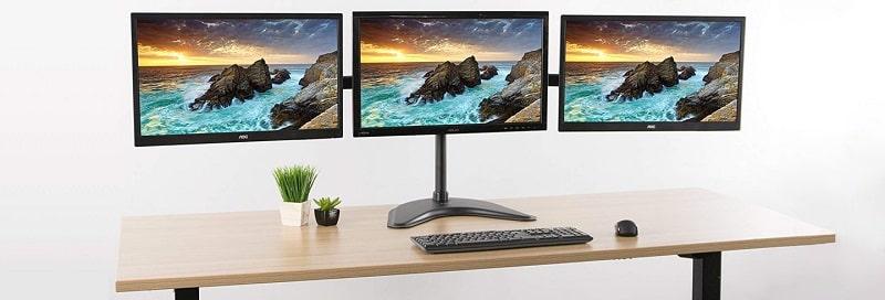 ergotron triple monitor stand